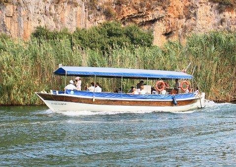 Boat, Tourists, Dalyan, Turkey