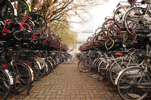 Bike, Rallying Point, Netherlands, Two Wheeled Vehicle