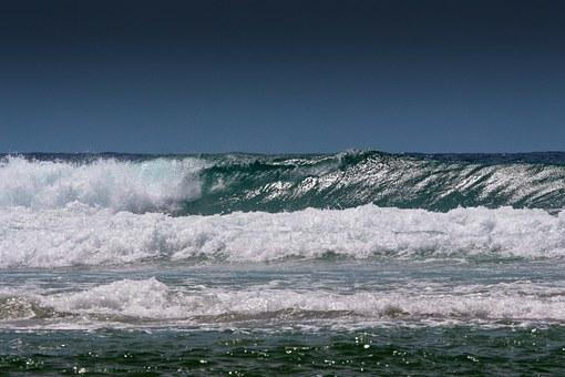 Waves, Tides, Ocea, Sea, Water, Grey, Blue, Gray, Whit