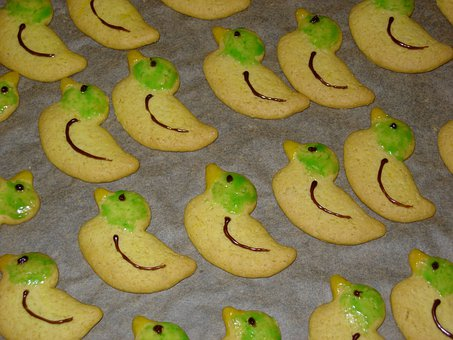 Cookie, Cookies, Ducks, Colorful, Sweet, Color, Nibble