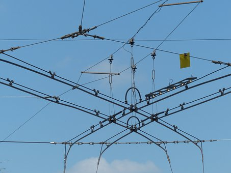 Upper Lines, Bus, Rail Traffic, Current, Electricity