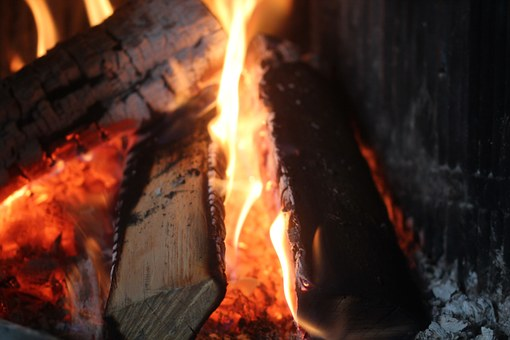 Fire, Fireplace, Hot, Stoke, Flames, Passion