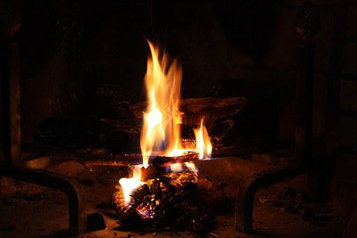Fire, Fireplace, Flames, Stoke, Hot