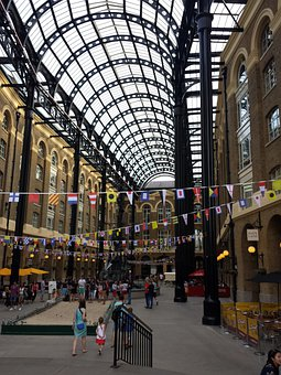 London, City, Building, Hall, Dome, Domed Roof, Arcades