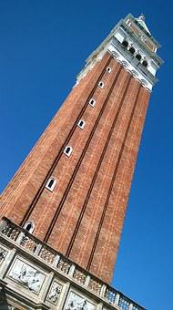 Bell Tower Of San Marco, Venice, Italy