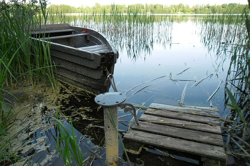 Nature, Lake, Boat, Olsztyn, Water, Landscape, Poland
