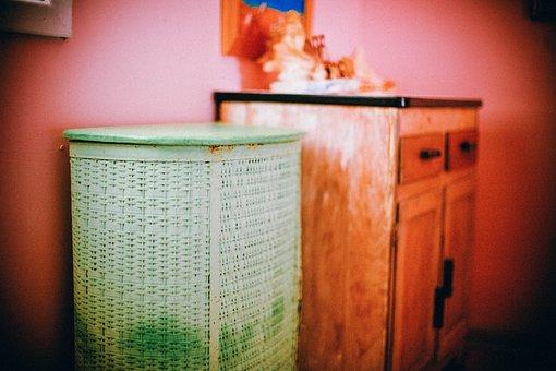 Clothes Basket, Laundry Basket, Bathroom, Furniture