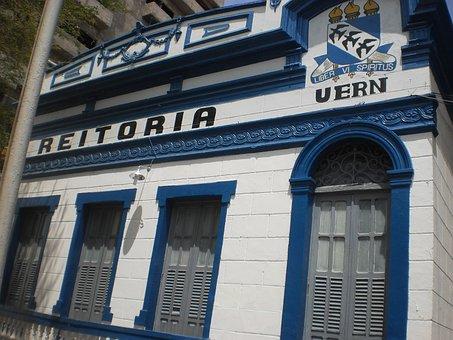 Mossoro, Brazil, City, Building, Blue, Architecture