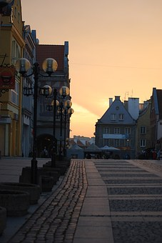 Poland, Olsztyn, Old Town, Sunset