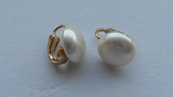 Vintage, Pearl, Drop Earrings, Earrings, Pearl Drop