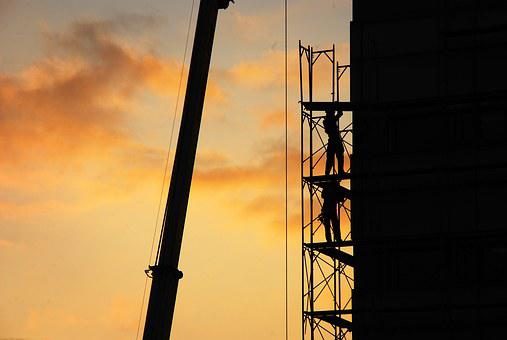 Sunset, Silhouette, Large F, Construction