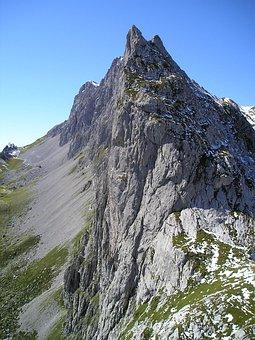 Mountains, Alpine, Switzerland, Rätikon, Steep Wall