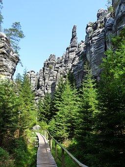 Teplice Rocks, Nature, Forest, Bohemia, Path, Trail