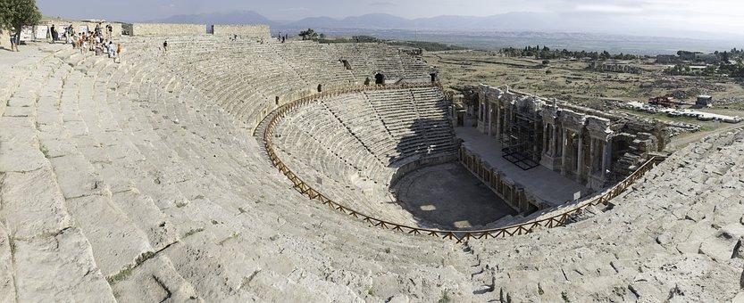 Teatro, Hierapolis, Turkey, Ruins, Amphitheatre