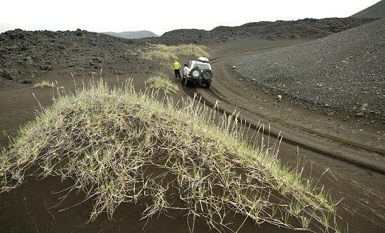 Iceland, Runway Of Lava, Volcano Askja