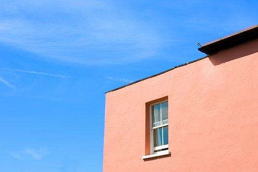 House, Window, Edge, Wall, Architecture, Tangerine
