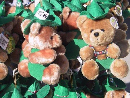 Souvenir, Bear, Stuffed Bear, Year Market, Market