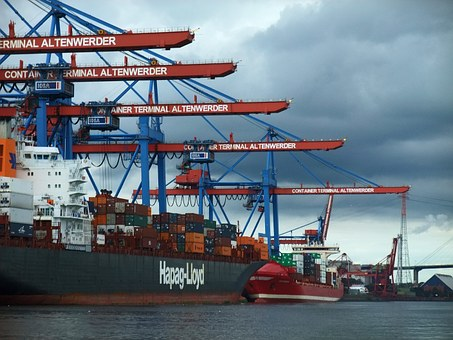 Hamburg, Port, Container, Altenwerder, Ship