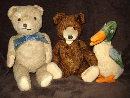 Toys, Teddy Bear, Plush, Bear Plush, Old, Bear
