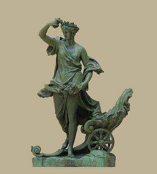 Statue, Bronze, Woman, Female, Aurora, 1693