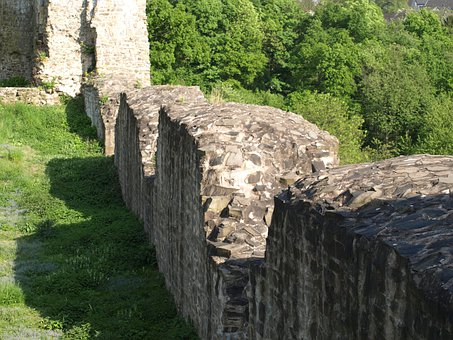 Castle Wall, Middle Ages, Wall, City Blankenberg
