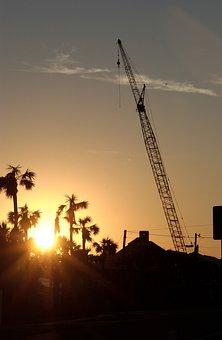 Destin, Florida, Sunset, Sky, Clouds, Sun, Golden