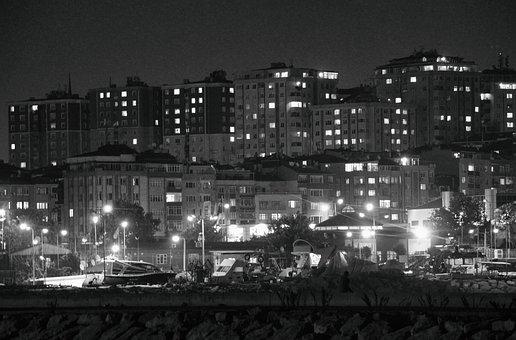 Dark City, City, Black And Wight, Dark, Urban, Night