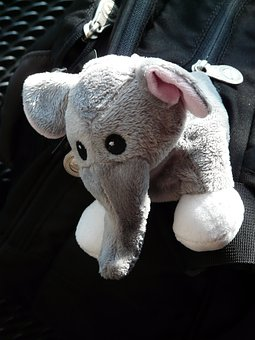 Elephant, Stuffed Animal, Fabric, Toys, Teddy Bear