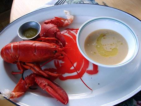 Lobster, Bisque, Dinner, Maine, Seafood, Shellfish