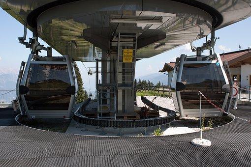 Cable Gondolas, Hightech Machinery, Mountain, Terminal
