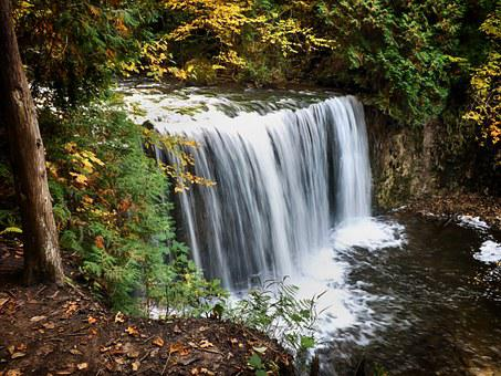 Canada, Ontario, Waterfalls, Landscape, Water