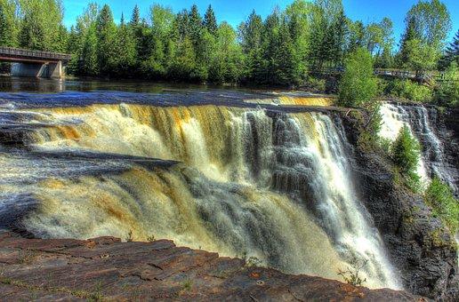 Waterfall, Canada, Ontario, Kakabeka Falls, Scenic