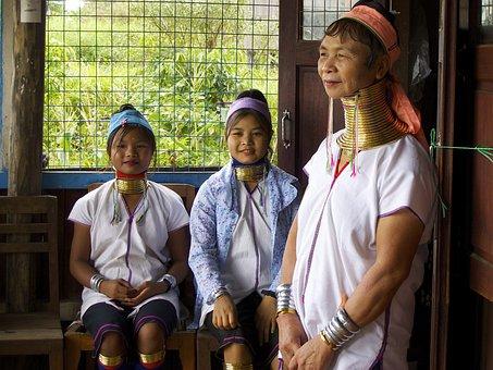 Female Giraffe, Padaung, Burma, Women