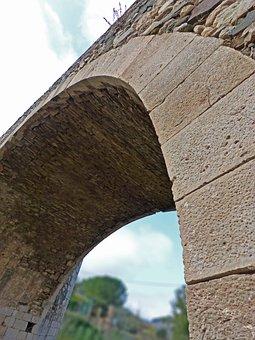 Bridge, Arc, Stone, Romanesque, Priorat