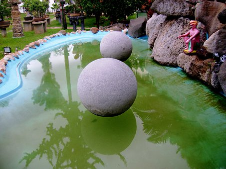 Stones, Round, Floating Stones, Water, Reflection