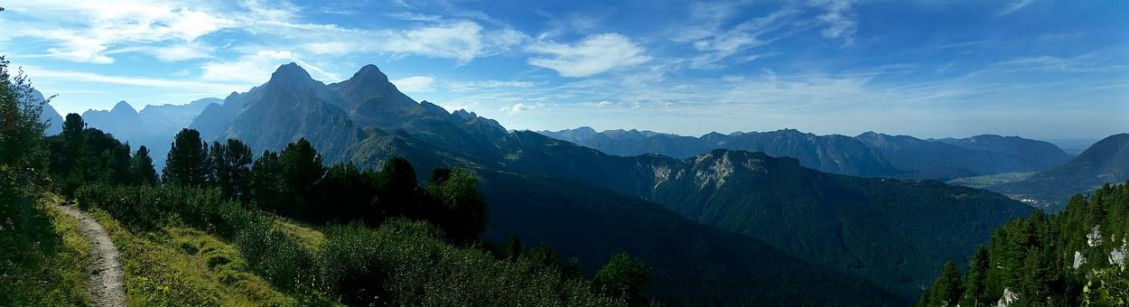 Mountains, Schachen, Hiking, View, Panorama, Landscape