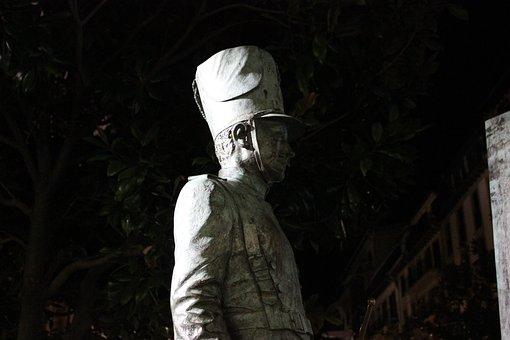 Statue, Soldier, Plaza, Sculpture, Face