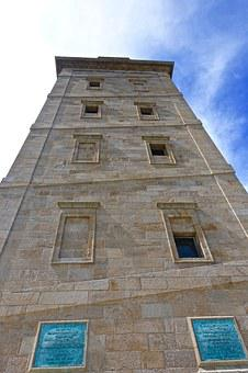 Lighthouse, Tower, Roman, Historic, Ancient, Spain