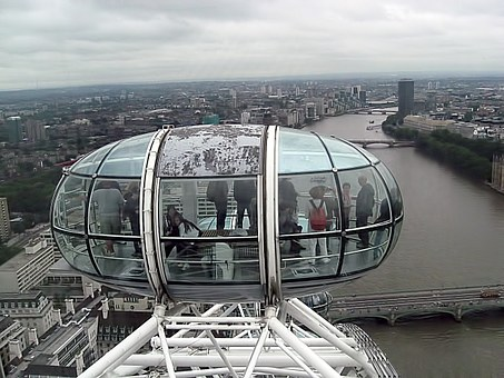 London Eye, View, Buildings, River, Landscape, London