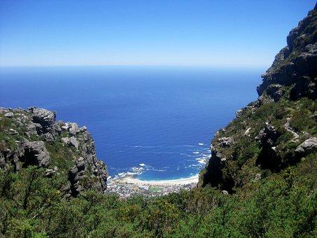 Mountain, View, Vista, Panorama, Sea, Beach, Coast