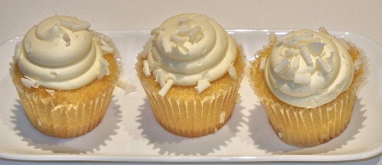 Cupcake, Coconut, Lemon, Sweet, Food