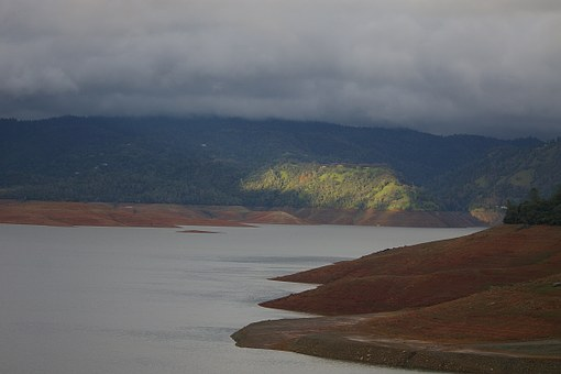 Lake Oroville, Water, Drought, Winter, Landscape