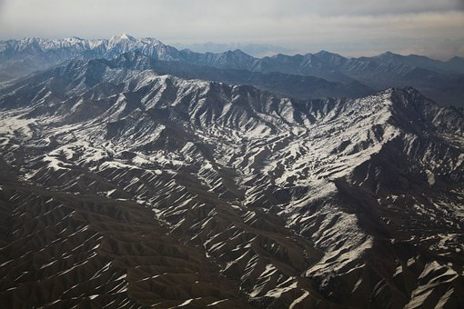 Afghanistan, Mountains, Helicopter Ride, Heights