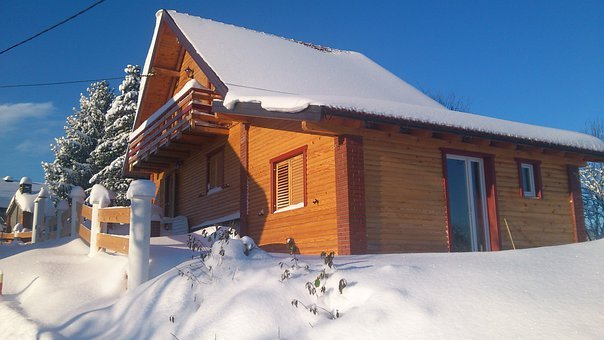 House, Home, Residential, Property, Wood, Wooden, Snow
