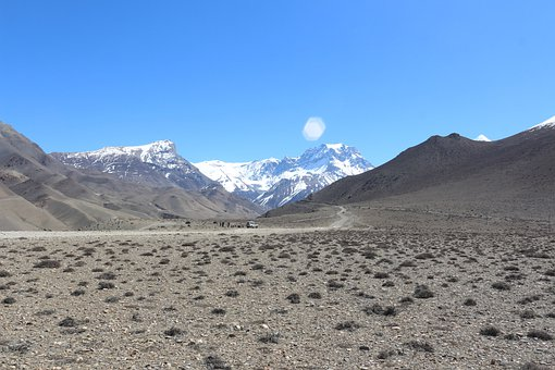 Landscape, Valley, Mountains, Snow, Snowclad, Peaks