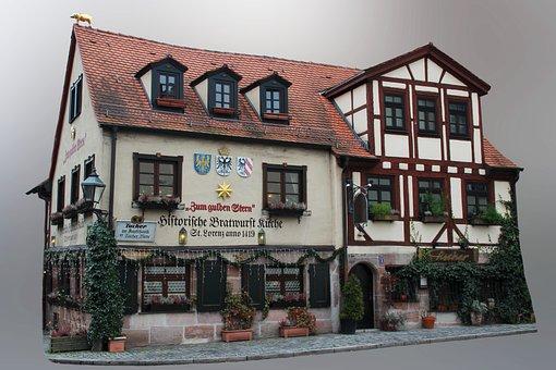 Nuremberg, Old Town, Middle Ages, Fachwerkhaus