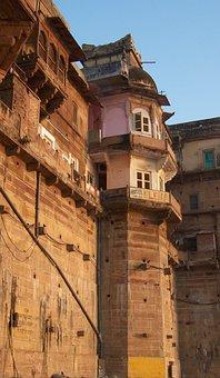 Building, Ancient, Old, Varanasi, Brick, Tower, Wall