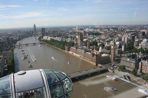 London Eye, A View Of London, River Thames, London