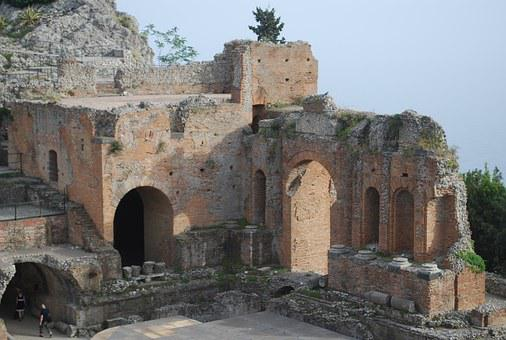 Amphitheater, Italy, Classical, Ruins, Architecture