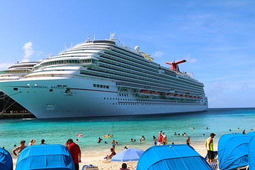 Cruise Ship, Carnival, Sea, Water, Blue, Summer